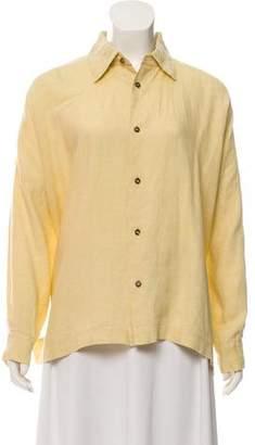 eskandar Linen Long Sleeve Button-Up