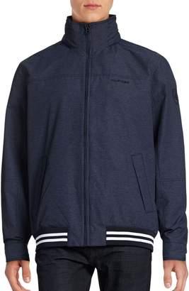 Tommy Hilfiger Heathered Varsity Windbreaker Jacket