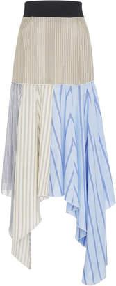 J.W.Anderson Patchwork Silk Midi Skirt