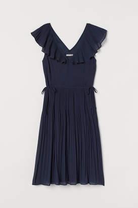 H&M Pleated Dress - Blue