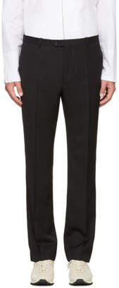 Maison Margiela Black Slit Hem Trousers