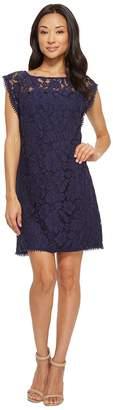 Vince Camuto Lace Dress with Shoulder Trim Women's Dress