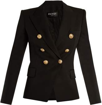 BALMAIN Double-breasted wool blazer $1,642 thestylecure.com