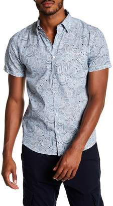 Coastal Paisley Print Modern Fit Shirt