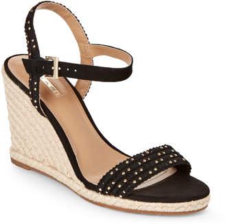 Tahari Black Walsh Wedge Espadrille Sandals
