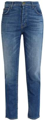 Current/Elliott The Slouchy Cropped Mid-Rise Slim-Leg Jeans