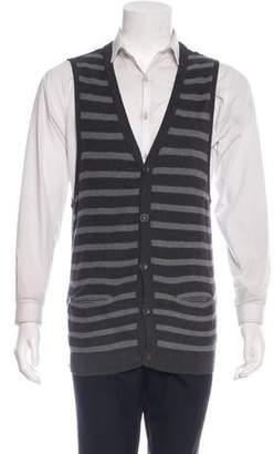 Rag & Bone Striped Sleeveless Cardigan