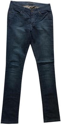 Superfine Blue Cotton Jeans for Women