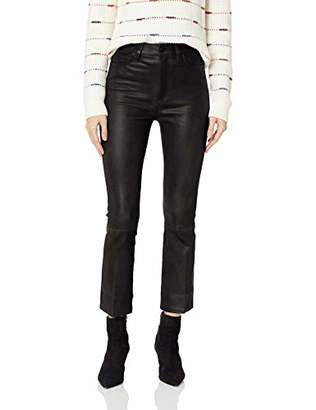 Joe's Jeans Women's Callie HIGH Rise Stretch Leather Cropped Boot Jean
