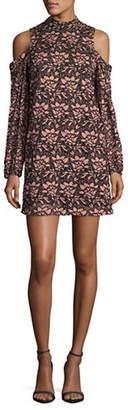 WAYF Cold-Shoulder Lace Dress