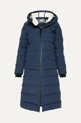 TEMPLA - 3l Verba Convertible Hooded Quilted Down Ski Coat - Navy