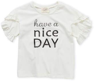 Hannah Banana Girls 7-16) Have A Nice Day Ruffle Sleeve Top