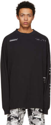 Unravel Black Long Sleeve Racing Jersey Skate T-Shirt