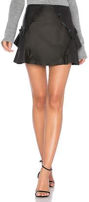 Derek Lam 10 Crosby Ruffle Leather Mini Skirt