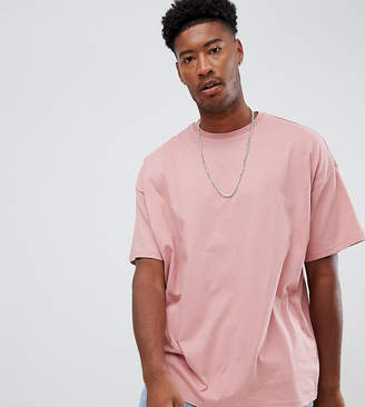 aa2b4cb264 Asos Design DESIGN Tall organic oversized fit t-shirt with crew neck in pink