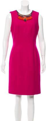 Matthew Williamson Virgin Wool Sleeveless Dress