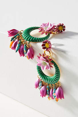Elizabeth Cole Abbot Wreath Drop Earrings