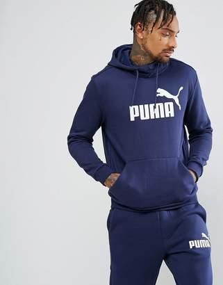 Puma ESS No.1 Pullover Hoodie In Navy 83825706