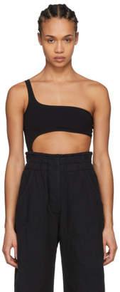 Isabel Marant Black Sally One-Shoulder Bodysuit