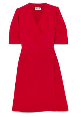 Paul & Joe Patricia Washed-satin Wrap Mini Dress