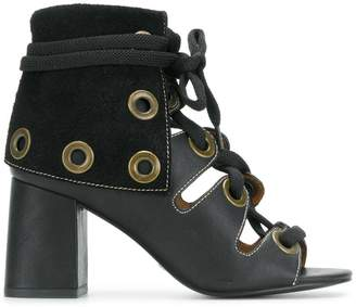 See by Chloe lace-up eyelet booties