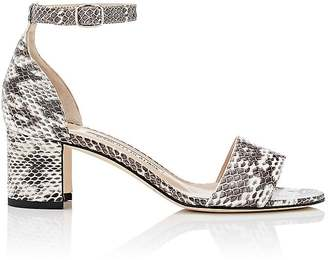 Manolo Blahnik Women's Lauratomod Snakeskin Sandals $795 thestylecure.com