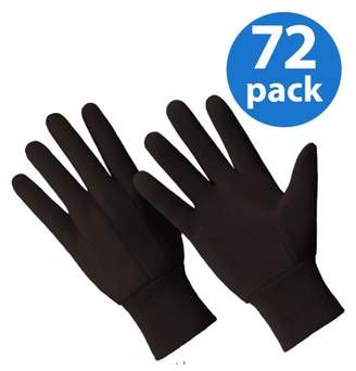 HANDS ONTM CT7000-L-72PK, 72 Pair Value Pack, Poly/Cotton Blend Brown Jersey Glove