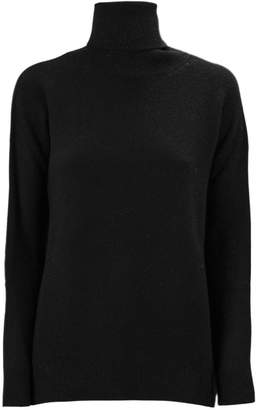 Fabiana Filippi Black Merino Wool Blend Sweater.