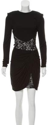 Vicky Tiel Structured Sequin Dress