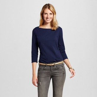 Merona Women's Striped Boatneck Tee $12 thestylecure.com