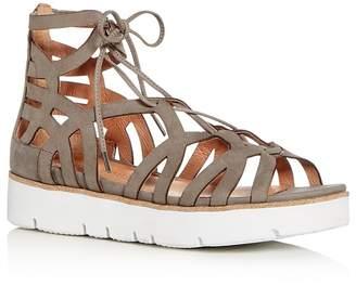 Kenneth Cole Gentle Souls Women's Larina Nubuck Leather Gladiator Platform Sandals