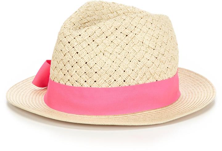 Hat Attack Basketweave Ribbon Fedora