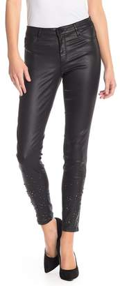 Tractr Stud Embellished Coated Skinny Jeans
