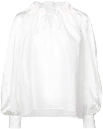 Tsumori Chisato loose-fit drawstring neck blouse