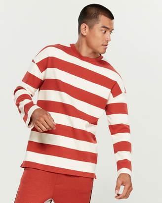 NATIVE YOUTH Harvard Striped Sweatshirt