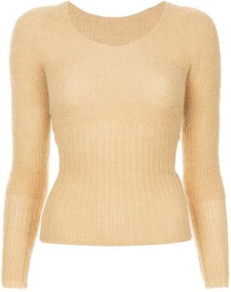 Jacquemus cropped ribbed knit sweater