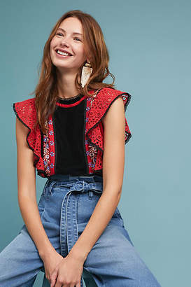 Love Sam Merry Embroidered Blouse