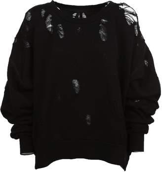 Taverniti So Ben Unravel Project Ben Distressed Sweatshirt
