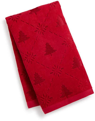 Martha Stewart Collection Snow Tree Cotton Hand Towel