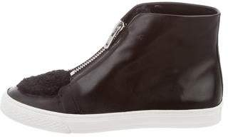 Loeffler Randall Leather High-Top Sneakers w/ Tags