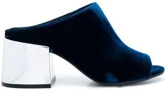 MM6 MAISON MARGIELA metallic heel mules