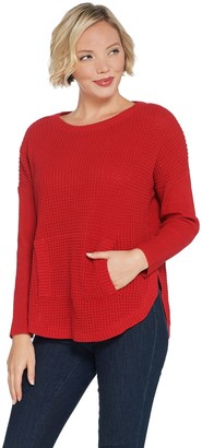 Vince Camuto Knit Waffle Texture Pull-Over Sweater