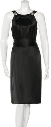 Vera Wang Lavender Label Satin Sheath Dress $85 thestylecure.com