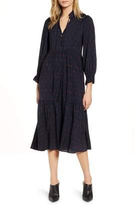 AG Jeans Celeste Tiered Midi Dress