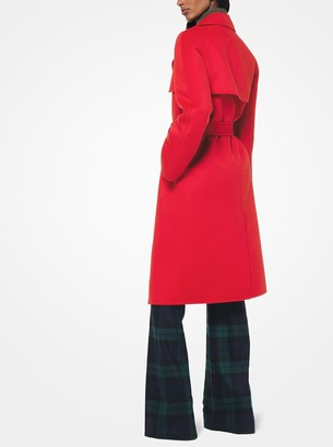 Michael Kors Wool-Melton Trench Coat