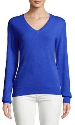 Lord & Taylor V-Neck Cashmere Pullover