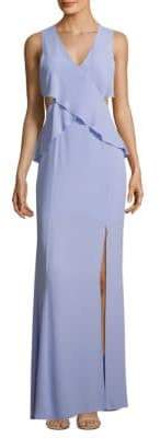 BCBGMAXAZRIA Sleeveless Georgette Gown