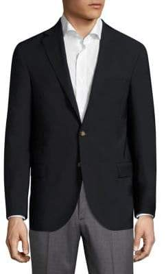 Eleventy Stock Solid Two-Buttoned Jacket