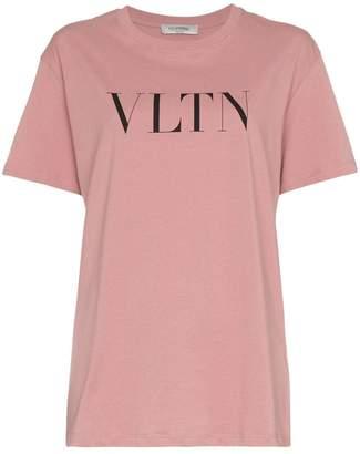 Valentino text print crew neck t-shirt