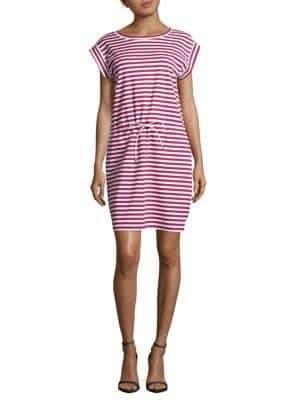 Lafayette 148 New York Sangria Breton-Striped Dress